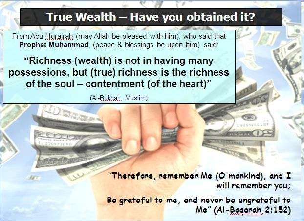 13 july - True wealth - happiness